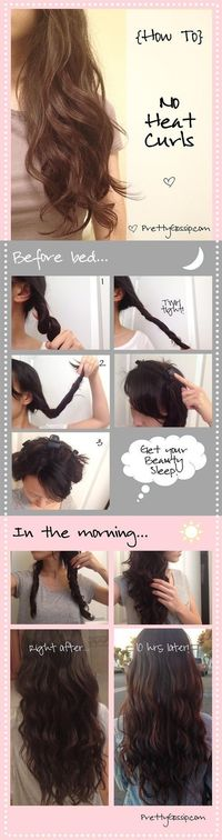 No Heat Curls. This actually works and nothing ever works on my hair. It has to be wet though