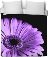 Lavender And Black Duvet Cover $120.00