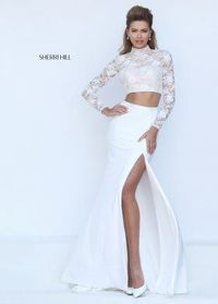 2016 Sherri Hill 50455 Fitted Crop Top Evening Gown
