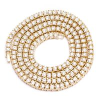 1 Row CZ Gold plated Finish Pharaoh tennis Chain Necklace bling £24.99