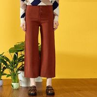 Vintage Slimming High Waisted One Color Winter Wide Leg Pant Casual Trouser - Bonny YZOZO Boutique Store