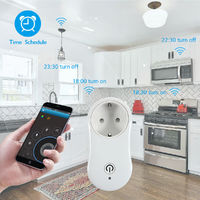 AC 100-240V Smart WiFi Socket APP Remote Control EU Plug Timer Switch with USB Charger