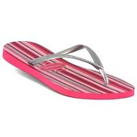 Havaianas - Slim Stripes - Pink / Silver Slim Flat Footbed Bright Striped Pattern Metallic Straps Odour Free   Click here for our Size Info Click here for our Delivery Info Click here for our Returns Info http://www.comparestoreprices.co.uk/shoes/havaian...