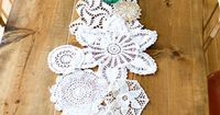 I must have dozens of these doilies from grandma... Neat idea!