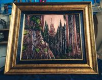Disney castle relief copper wall art �'�81.00