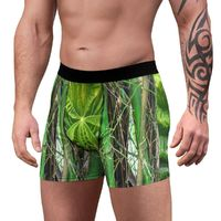 Men's Boxer Briefs - Bamboo trunks and young Yagrumo tree leaves - in Rio Sabana park - El Yunque rainforest PR $24