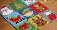 Crochet Christmas Stocking Pixel Square - Repeat Crafter Me