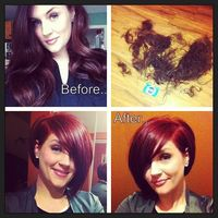Love my new hair!...Total transformation from long red hair to short asymmetrical bob