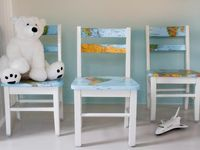 The upcycling experts at HGTV.com share step-by-step instructions for updating a basic wooden chair with a paper map and decoupage.