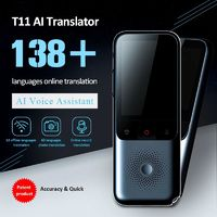 T11 138 Languages Online Offline Translator Dialect Smart Instant Real-time Voice Recording Translation HD Noise Reduction