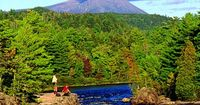 Mount Katahdin, Baxter State Park, ME - The northern most point of the Appalachian Trail. I've hiked quite a bit of this trail in various states. One day I'd like to get here, too! :-D