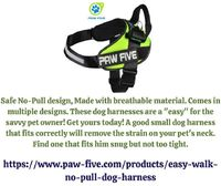 Looking for best easy walk harness for your pet? At Paw Five, you can buy top quality, user-friendly, durable and comfortable easy walk No-Pull harness that contains a waste bag dispenser. Our dog training tools are available for all dog breeds- including...