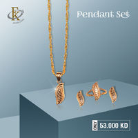 This Exquisite and Elegant Necklace set adds a beauty Touch to Your Ensembles. �–� Product type: Gold Pendant Set  �–� Price: 53.000KD �–� Weight: 3.150 Grams �–� Free Delivery �–� Karat: 18 Karat �œ…100%...
