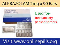 ALPRAZOLAM 2mg x 90 Bars  Xanax 2mg (GADOR or PFIZER) is commonly used to treat anxiety and panic disorders. It falls into a category of medications called benzodiazepines. They are known to affect the central nervous system components and produ...