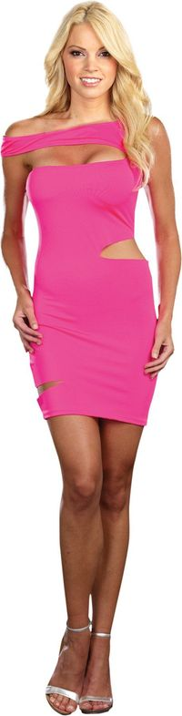 Neon Dress Pink Lg https://costumecauldron.com