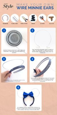 A step-by-step tutorial to make your own Wire Minnie Mouse ears.