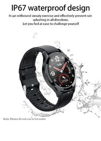 Bakeey MK10 Full Round Touch Wristband Fitness Tracker APP Remind Smart Watch