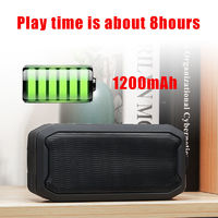 Portable Wireless bluetooth V5.0 Speaker TWS Stereo TF Card IPX7 Waterproof Outdoors Speaker with Mic