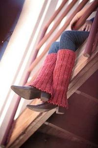 crochet leg warmers - aren't these cozy? and they take me back to my youth......