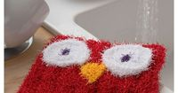 Easy Owl Washcloth or Dishtowel scrubby - Owl Crafts - Knitting - How to make an easy scrubbie - owls - Knitting Crafts - Fun things to knit