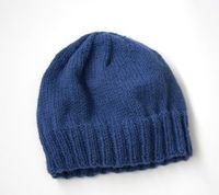 Free Knitting Pattern L20403 Adult's Simple Knit Hat : Lion Brand Yarn Company
