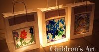 beautiful art lanterns, Artful Adventures entry in TinkerLab's paper bag challenge