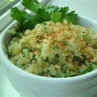 "Lime Cilantro Cauliflower ""Rice"" 