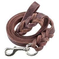 6-foot Braided Leather Dog Leash @The Lavender Lilac