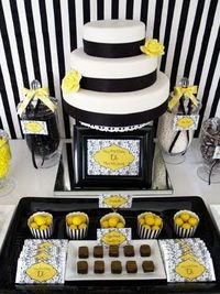 Black, White & Yellow 60th Birthday Party! - Kara's Party Ideas - The Place for All Things Party