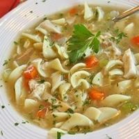 "Grandma's Chicken Noodle Soup | ""This is a recipe that was given to me by my grandmother. It is a very savory and tasty soup and I believe that all will like it. If you would like to add even more flavor, try using smoked chicken!!"""