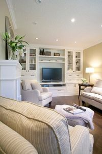 built-in wall unit // living space // tv room