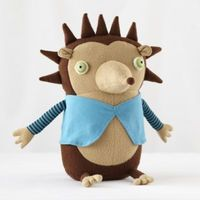 The average wild hedgehog has from 5,000 to 6,500 quills. This one only has nine and they're super soft. So it may be zoologically inaccurate, but it's much more fitting for a hug.