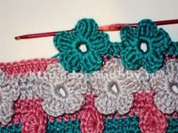 crochet flowered baby blankets