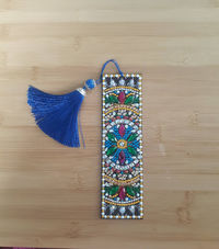 Leather Bookmarks-Tasseled Bookmarks-Sparkly Beaded Bookmarks-Diamond Beaded Bookmarks-Gift For Teacher-Book Lover Bookmark-Readong Bookmark $12.00