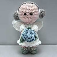 """Flower Angel ($ 4.77 USD) :: Skills necessary: magic ring, single crochet, increase, decrease, slip stitch Measurement: 6"""" (15 cm) tall when made with the indicated yarn. This pattern and dolls created from this pattern may not be use..."""