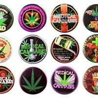 Medical Cannabis Marijuana Classic #1 Pin-Back button Bundle w/12 lg buttons   patches to put anywhere you want...I like to put them on hats and some shirts