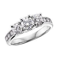 Three stone rings are fitting for various opportunities, but they are at their finest when acting as an engagement ring. The three stones on these rings traditionally honor the past, present, and the future while celebrating love and commitment. To find t...