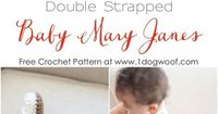 FREE! Adorable baby Mary Janes crochet pattern!