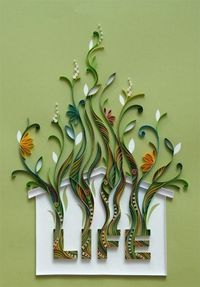 "Paper quilling...""The House of Life"" by Natasha Molotkova. Beautiful!"