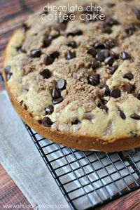 Chocolate Chip Coffee Cake recipe with Cinnamon swirl