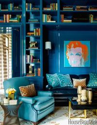 Give your bookshelves depth and glamour.