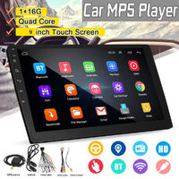 9 Inch 2 DIN 1+16G Car MP5 Player Quad Core Stereo Radio IPS Touch Screen bluetooth WIFI DAB GPS DVR