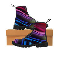 Crazy colourful Women's Canvas Boots $63.00