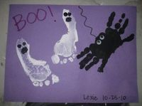 hand and foot print halloween craft