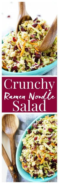 This Crunchy Ramen Noodle Salad is a light and delicious addition to your summer�€�
