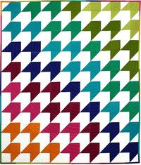 Change colors to Seattle Seahawks team colors and flip the direction of the quilt 90 degrees to mimic 12th man feathers on uniform Over the Rainbow Quilt