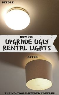 Cheap and easy fix for ugly apartment/builder grade lighting.