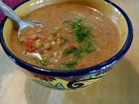 Raw Sprouted Lentil Soup