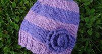 Very Violet Newborn Hat! (Free Knitting Pattern)