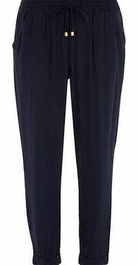 Dorothy Perkins Womens Navy Woven Joggers- Blue DP14539723 Pull on style woven formal jogger in naxy blue. Approx length 72cm. 100% Viscose. Machine washable. http://www.comparestoreprices.co.uk//dorothy-perkins-womens-navy-woven-joggers-blue-dp145397...